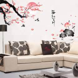 Home Decor Wall Stickers Aliexpress Buy Removable Flower Wall Sticker Pink Wall Decor Style Mural Home