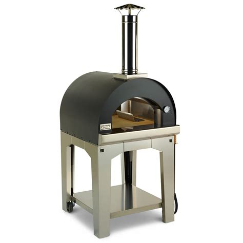 stovetop pizza oven the rapid heating wood burning pizza oven hammacher