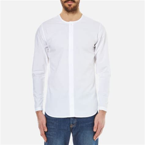 collarless shirt folk s collarless shirt white free uk delivery