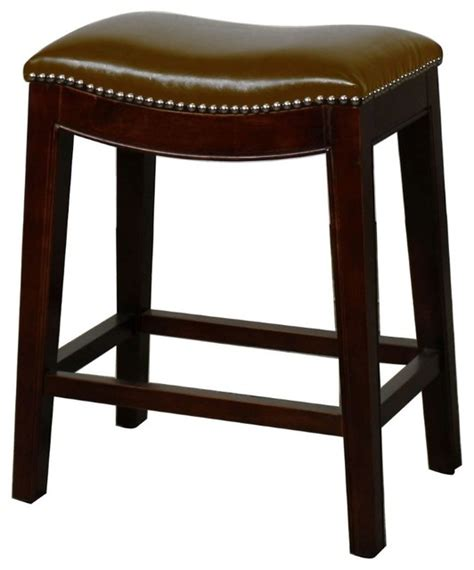 transitional counter stools elmo bonded leather counter stool brown transitional