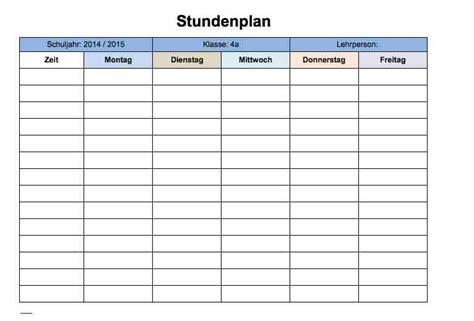 Word Vorlage Jahresplanung Stundenplan Vorlage Muster Und Vorlagen Kostenlos