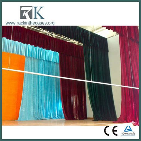 portable stage curtains stops at 2 4m 3m 3 6m 4 2m telescopic crossbar
