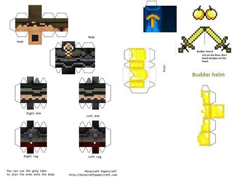 Minecraft Papercraft Pack - papercraft sky does minecraft budder pack minecraft