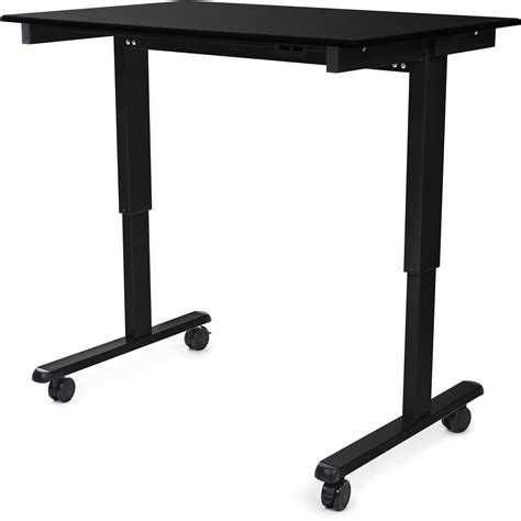 luxor 48 electric standing desk luxor 48 quot electric standing desk stande 48 bk bo b h photo