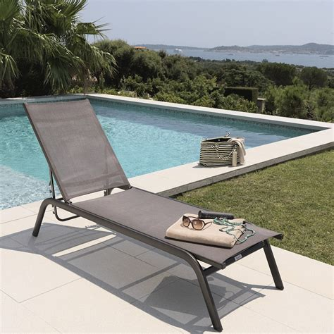 swimming pool chaise lounge outdoor beach swimming pool daybed aluminum folding webbed