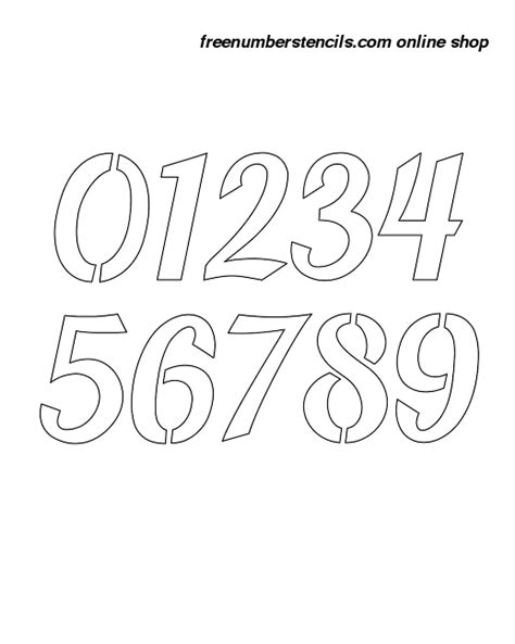 printable calligraphy number stencils 12 inch bold script calligraphy calligraphy style number