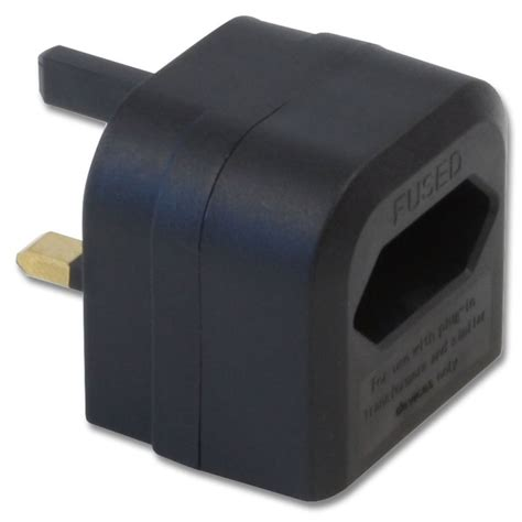 euro transformer to uk adapter plug black from lindy uk