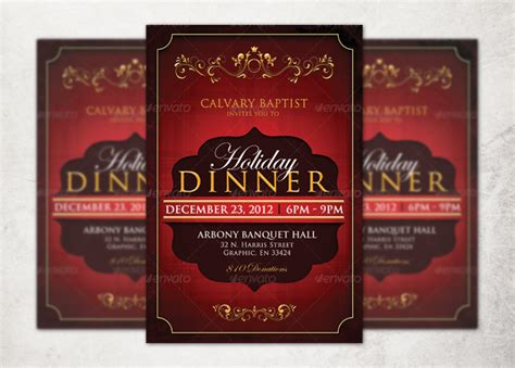 Holiday Dinner Church Flyer Template Inspiks Market Dinner Flyer Template