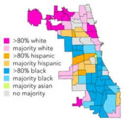 Racial Map Of Chicago by Chicago Map Ethnicity