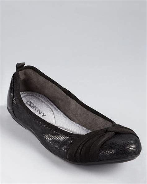 dkny shoes flats dkny flats ballet in black lyst