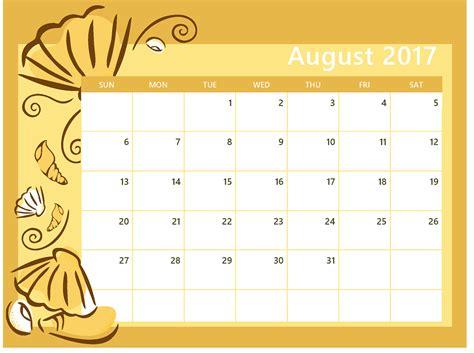 printable calendar august august 2017 calendar printable