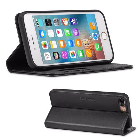 shieldon iphone   kickstand case genuine leather wallet case