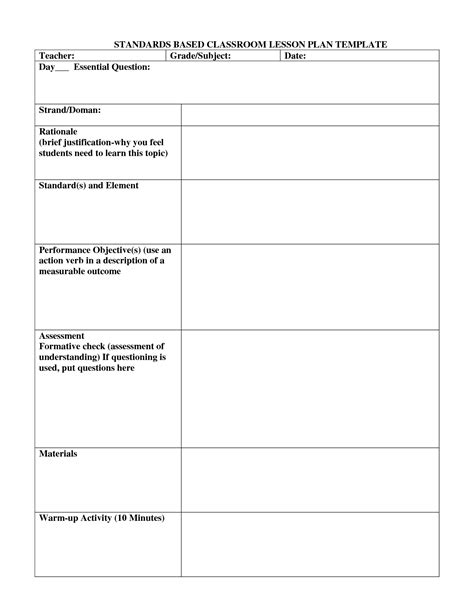search results for lesson plan template special education