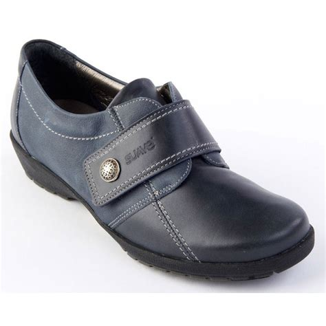 suave womens navy e ee velcro shoes marshall shoes