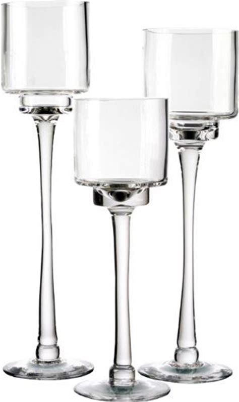 Cheap Pedestal Candle Holders Candle Holder Set Of 3 Glass Pedestal Candle