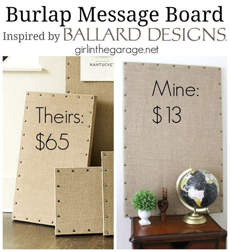 home design message board burlap message board inspired by ballard designs girl in the garage 174