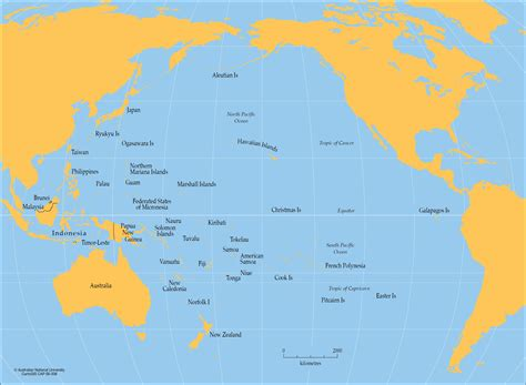 australia pacific map pacific free map blank outline within map