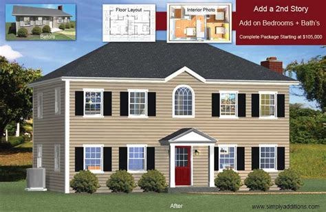 Two Bedroom Ranch House Plans add a floor convert single story houses