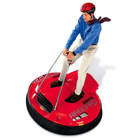 click or hover image to the levitating hover scooter hammacher schlemmer