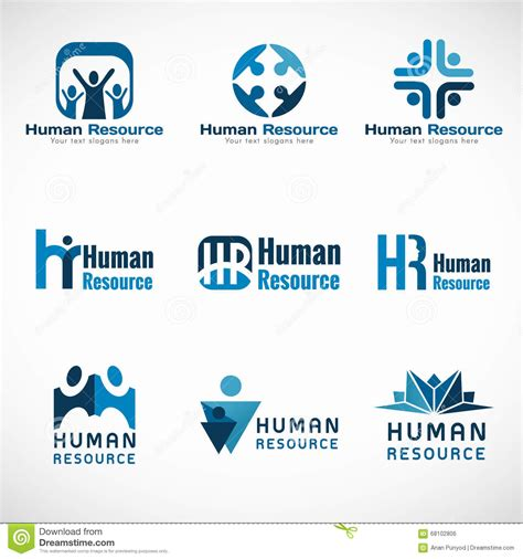 Design Free Resources | human resources hr logo vector set design for business
