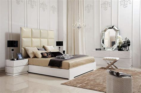 Unique Transitional And Contemporary Luxury Bedroom Set Upscale Modern Furniture