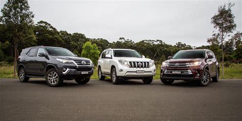 Toyota Compare Toyota Suv Comparison Fortuner V Kluger V Prado Photos