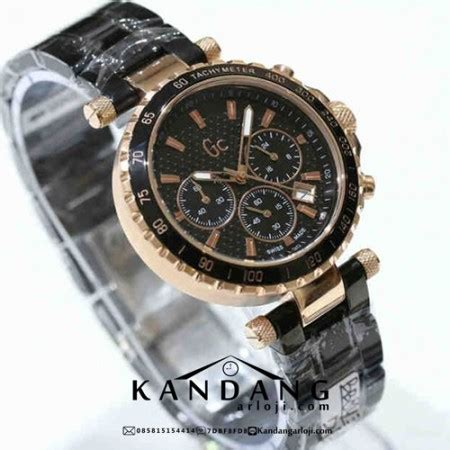 Gc Rantai Gold Black jam tangan guess collection keramik hitam rosegold elegan