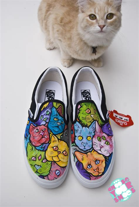 sneakers with cats on them cat shoes by mburk on deviantart