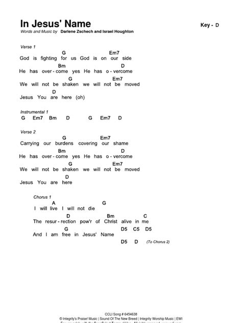 guitar tutorial in jesus name in jesus name chords d