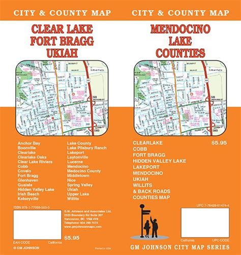 lake county california map california maps catalogue gm johnson maps