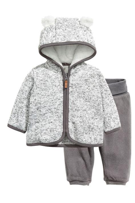 H M Set 1 fleece set gray sale h m us