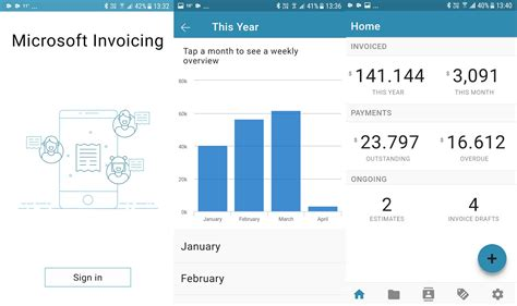 microsoft android apps microsoft invoicing android app launched on play store
