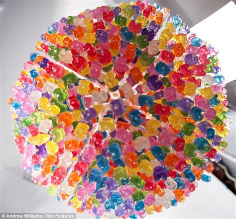 Icarly Gummy Bear Chandelier Sweetness And Light Artist Painstakingly Creates A