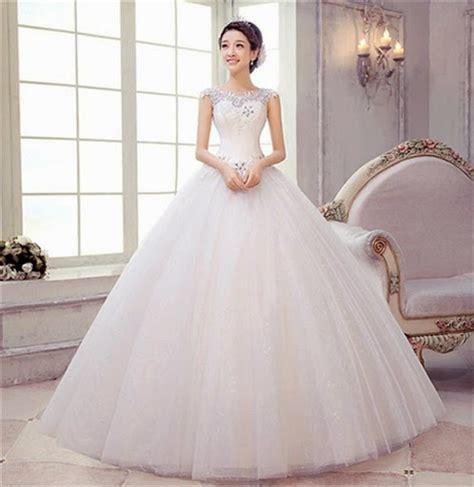 Batik Mahkota Batik Moderen Fashion Trendi gaun pengantin korea yang populer saat ini