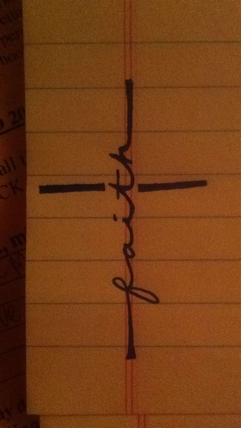 cross faith tattoo ideas just drawing its a cross with the word