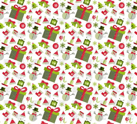 christmas tree new year pattern seamless pattern with christmas design elements vector