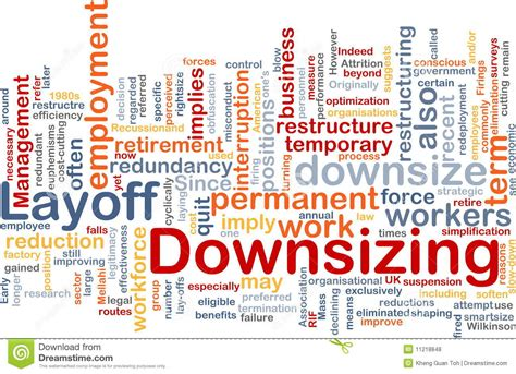 downsizing definition definition of layoff royalty free stock image