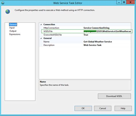 ssis framework template exle wsdl file for web service free
