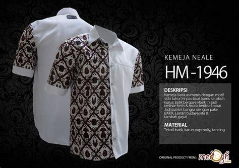 Batik Asimetris Series ramadhan suci dengan kemeja nuansa putih dari medogh