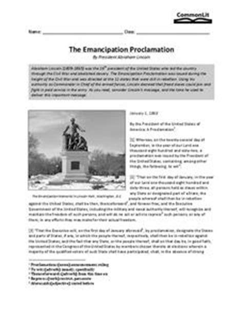 emancipation proclamation worksheet the emancipation proclamation 8th 11th grade worksheet lesson planet