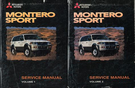 service manual repair manual 2003 mitsubishi montero sport service manual repair manual 2003 1998 mitsubishi montero sport repair shop manual set original