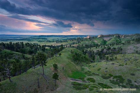 Nebraska Number Search Twilight At Ft Robinson State Park Western Nebraska Landscape Photograph Scenic