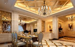3d design luxury dining room european style villa 3d house