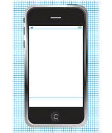 Cell Phone Template by Free Printable Mobile Sketching Templates