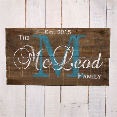mother s day gift custom wood name sign rustic family