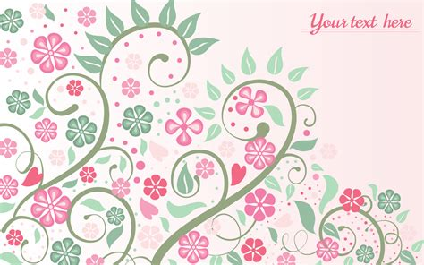 pink floral background with swirls and leaves vector
