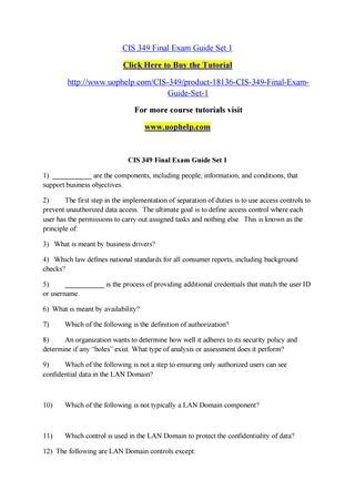 Cis Background Check Cis 349 Guide Set 1 By Blackeagle 3 Issuu