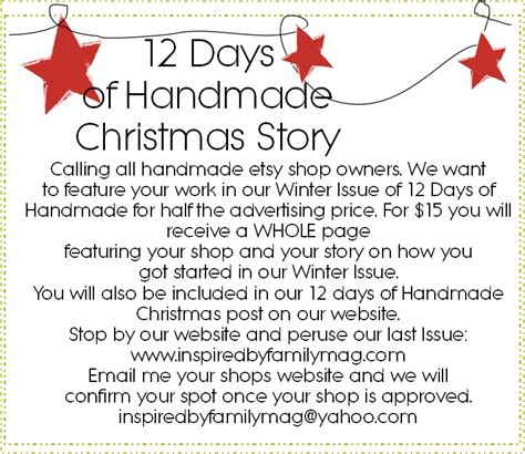 christmas days 12 stories 12 days of handmade christmas story inspired by family