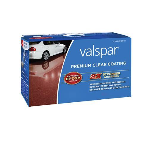 shop valspar 2 part clear gloss garage floor epoxy kit actual net contents 128 fl oz at lowes
