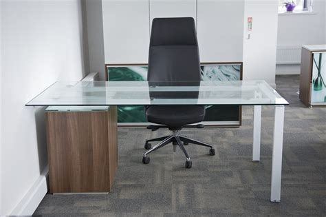 Glass Desk Office Furniture Frosted Glass Office Desk Homefurniture Org